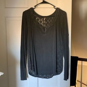 Long Sleeve Shirt with Crochet Details